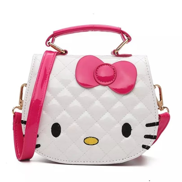 5d1bc379e4ff 1 left HELLO KITTY 💝 Pink   White Handbag